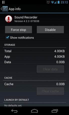 sound recorder app info